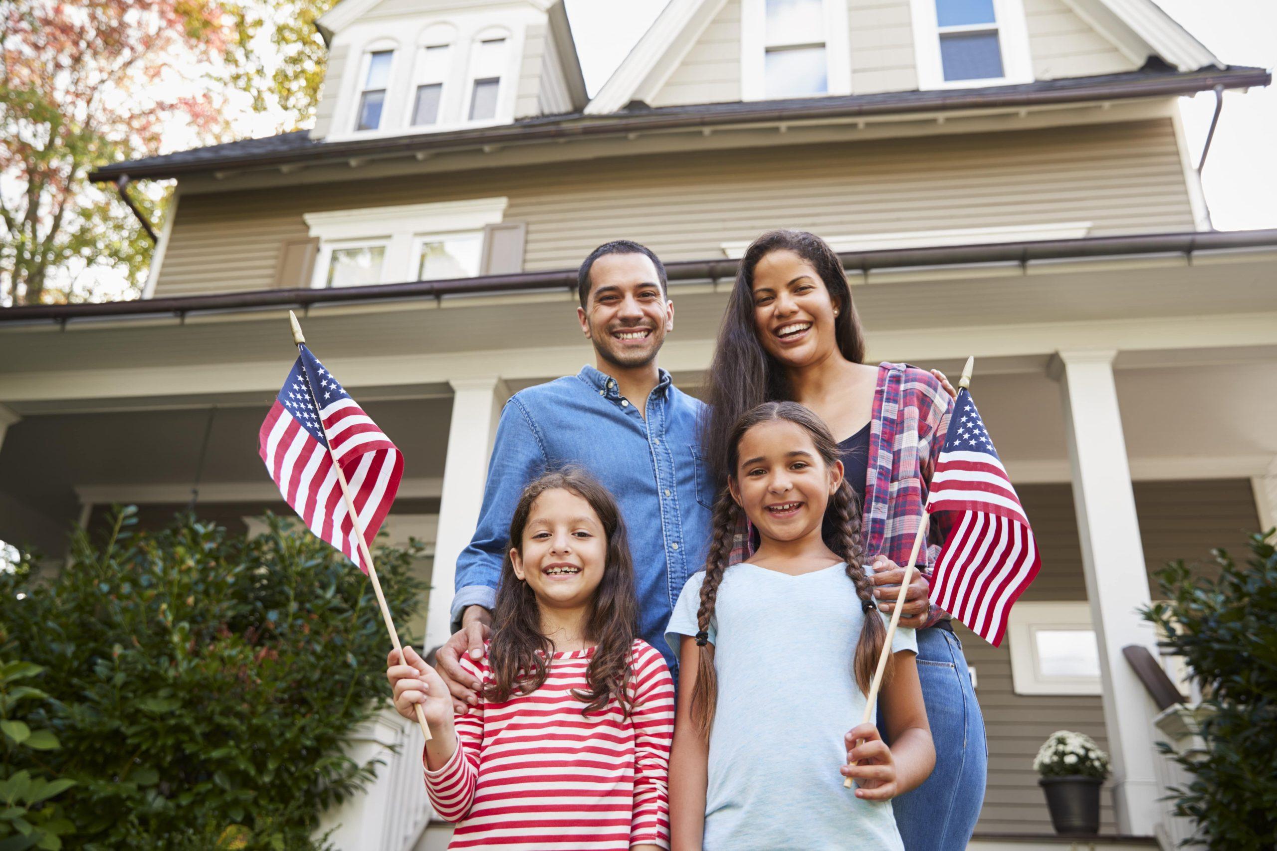 foto familia estadounidense